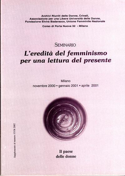 L'eredità del femminismo per una lettura del presente