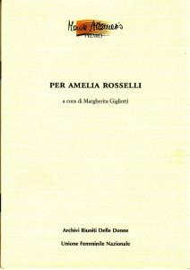 Per Amelia Rosselli
