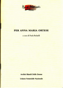 Per Anna Maria Ortese