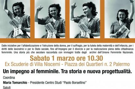 Mostra dell'Unione femminile nazionale a Palermo