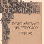 """Periodico """"Unione femminile"""". Indici e abstract"""