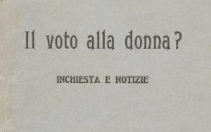 il voto alla donna opuscolo ufn ritaglio