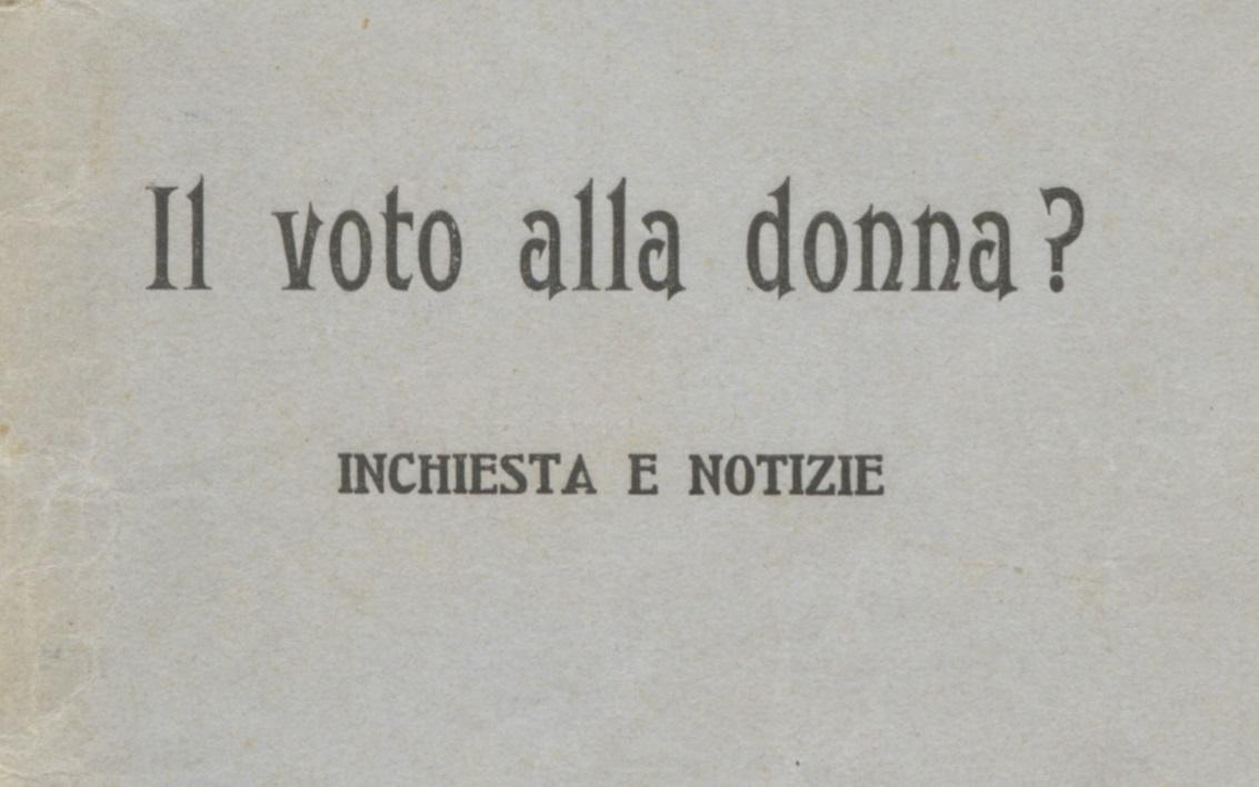 Italia 1946: le donne al voto. Dossier