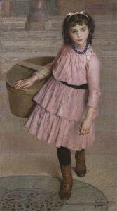 Longoni E. - La piscinina, olio su tela 126 x 71 cm