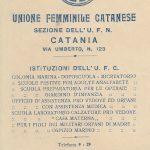 La sezione catanese dell'Unione femminile nazionale