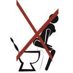 Cartello bagno pulito uomo donna