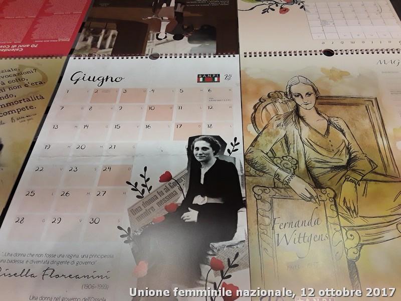 Donne contro il fascismo. Calendario Anpi 2018