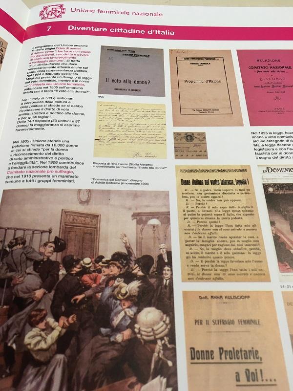 Catalogo mostra storia Unione femminile nazionale