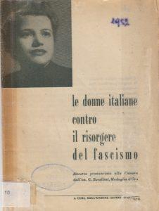 le donne italiane contro il risorgere del fascismo