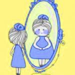 Fin da bambina allo specchio