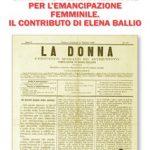 Mazziniane per l'emancipazione femminile. Elena Ballio