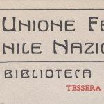 Breve storia della biblioteca dell'Unione femminile nazionale