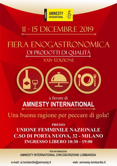Amnesty International mercatino di Natale