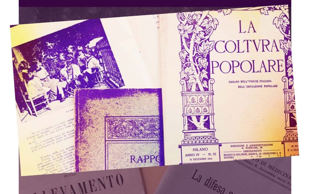 Catalogo degli opuscoli (1851 – 1960) del Fondo Famiglia Majno e del Fondo Unione Femminile