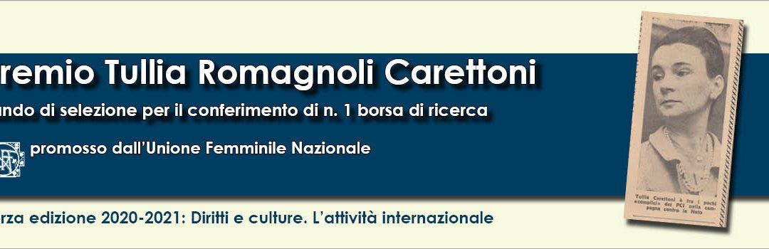 Terza edizione del Premio Tullia Romagnoli Carettoni